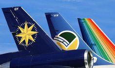 Anuncios brasileiros Compamhias aéreas saudosas Varig, Cruzeiro e TransBrasil