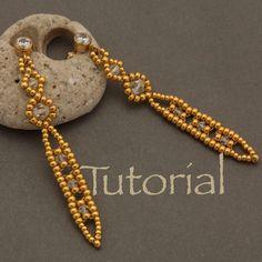 Seed bead and Crystal Earring Tutorial Icicle Long Tassel Earrings, Seed Bead Earrings, Crystal Earrings, Women's Earrings, Seed Beads, Ear Jewelry, Bead Jewellery, Jewelry Making, Jewlery