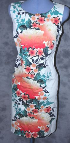 Marks&Spencer,ladies,size 10,scoop neck,floral,knee length,sleeveless,Tea Dress