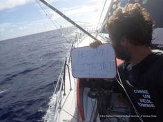 Photo sent from the boat Comme Un Seul Homme, on January 21st, 2017 - Eric Bellion Photo envoyée depuis le bateau Comme Un Seul Homme le 21 Janvier 2017 - Eric BellionSam / Itajai