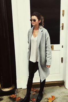1000 Ideas About Grey Coats On Pinterest Minimal Chic