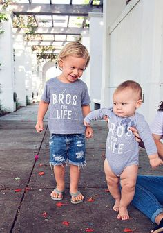 Graphic tee Grey Tee Shirt Boys Clothing Bros for by LittleBeansCo