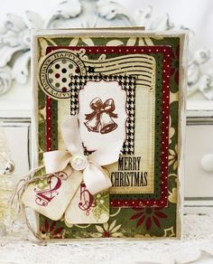 Love the date tags on this card by Melissa Phillips!