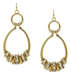 Look and feel fabulous wearing these oval drop earrings by Jessica Simpson with a gold-tone metal, stone accents and approximate 3'' drop.  #GetBacktoBealls