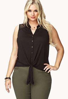 $15.80 Desert Darling Crochet Shirt | FOREVER21 PLUS - 2060262661