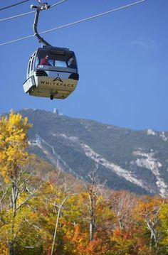 The scenic view from the Whiteface Mountain foliage gondola, NY