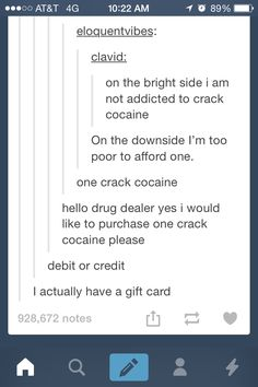 """Hello, sir, I would like to purchase the 'crack cocaine'"""