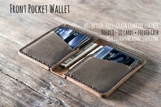 """This compact wallet is is both """"classy"""" and """"cute"""". It holds six cards, plus some cash, and fits into the palm of your hand."""