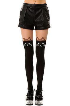 Black Knee High Catyhose