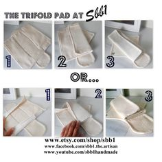 Organic Reusable Cloth Menstrual Pad trifold by Sbb1wellnessLLC