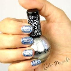 Vernis à Ongles Craquelé Argent Glitter - Stargazer   Color-Mania (http://www.color-mania.fr/boutique/vernis-a-ongles-craquele-argent-glitter-nail-art/)