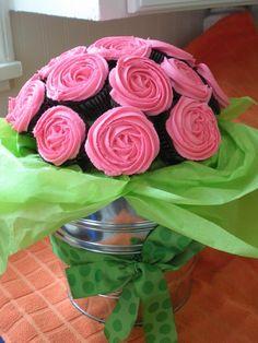 rose bush cupcakes