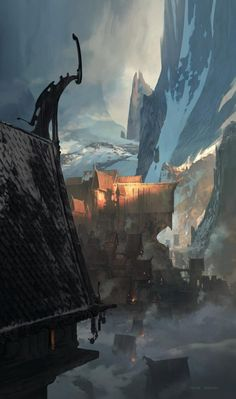 Landscape Concept Art by Thom Tenery  <3 <3