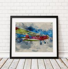 Airplane Watercolor Print https://www.etsy.com/listing/467441279/airplane-watercolor-print-airplane?ref=shop_home_active_14 Airplane Painting - Plane Watercolor Painting - Watercolor Art Print - Nursery Decor - Kids Room Wall Art - Aviation Gift Idea @fatfrogprints