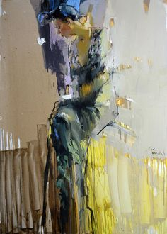 Iryna Yermolova Title: Lady in Flower Print Dress Medium: oil on canvas Size: 140 x 100cm