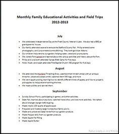 Unschooling Homeschool Record Keeping
