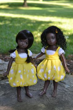 brown dolls Sarah and Suri by Tami E. Pretty Dolls, Cute Dolls, Beautiful Dolls, African Dolls, African American Dolls, Blythe Dolls, Barbie Dolls, Dolls Dolls, Black Baby Dolls