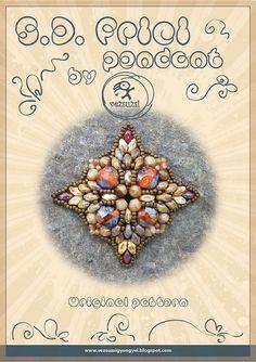 pendant tutorial / pattern S.D. Frici pendant by beadsbyvezsuzsi