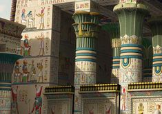 Temple of Horus at Edfu is a limited Edition Giclee print. Ancient Egypt Art, Old Egypt, Egyptian Temple, Egyptian Art, African Royalty, Occult, Magick, Fantasy, Sith