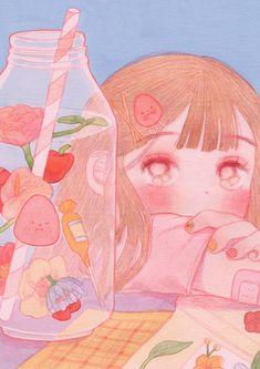 Pin by daisy on art inspo in 2019 искусство ужасов, акварель Wallpapers Kawaii, Kawaii Wallpaper, Art And Illustration, Illustrations, Arte Do Kawaii, Kawaii Art, Art Anime, Anime Art Girl, Manga Girl
