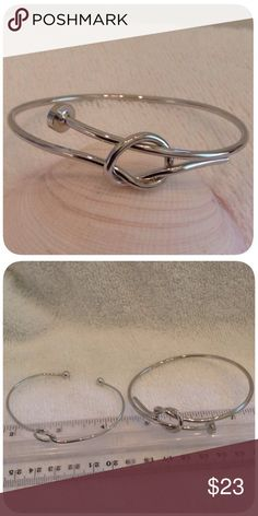 Twisted Bracelet Great item to build on your jewelry box. Big sister version of the two sizes I have. Stainless steel and adjustable. I'm sorry but I don't trade Jewelry Bracelets