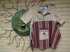 Upcycled Women's Baby Doll Swing Tunic Top size Medium