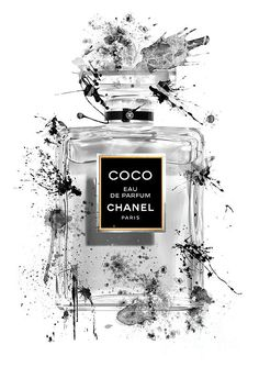 COCO Eau de Parfum Chanel Perfume - 57 by Prar Kulasekara Coco Chanel Wallpaper, Chanel Wallpapers, Black And White Aesthetic, Pink Aesthetic, Chanel Background, Home Bild, Chanel Poster, Chanel Wall Art, Mode Poster