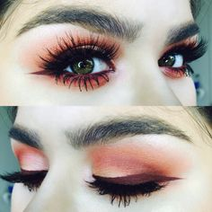 lady chub // makeup // sunset eyes // lashes // eyeshadow // brows