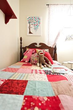 Colourful squares quilt