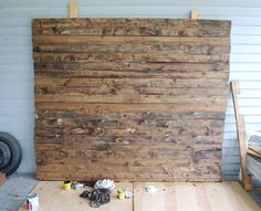 DIY Wood Backdrop