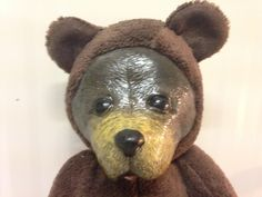 Grizzly teddy bear 35 cm hard muzzle and soft body di DeedeeMagicWorld su Etsy