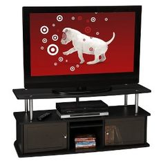 Convenience Concepts Tv Stand With 3 Cabinets - Black