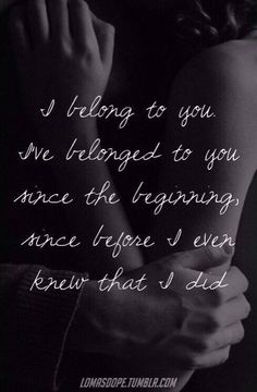 I belong to You ..