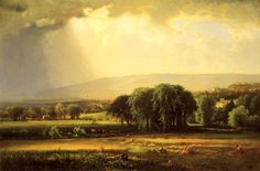 inness painting | George Inness Paintings - George Inness Harvest Scene in the Delaware ...