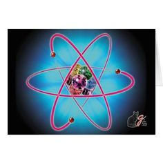 """Atomic Jewels Card - Whether you're jotting a note to a distinguished colleague or sending a """"Thank You"""" to your publisher for your latest royalty check, you won't be an atom bum when you communicate with this classy card. 75% OFF Cards – Use Checkout CODE: BIGZCARDSALE 'til Midnite 10-27-16. Over 3000 products at my Zazzle online store. Open 24/7 World wide! http://www.zazzle.com/greg_lloyd_arts*?rf=238198296477835081"""