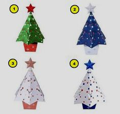 PAPERMAU: Christmas Time - Four Decorative Christmas Trees Paper Modelsby Paper Museum