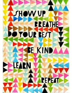 Show Up Art Print Lisa Congdon by lisacongdon on Etsy #artprojects