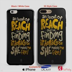 5SOS TRY HARD LYRIC 5 Seconds Of Summer - Personalized iPhone 7 Case, iPhone 6/6S Plus, 5 5S SE, 7S Plus, Samsung Galaxy S5 S6 S7 S8 Case, and Other