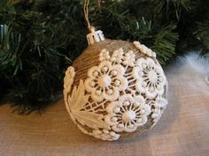 Lace Christmas Ornament                                                                                                                                                                                 More