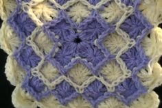 How to make Bavarian Crochet Wheel Stitch Square with Post Stitch Croche...