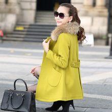 Áo khoác dạ nữ dài tay, kiểu dáng thanh lịch trẻ trung, mẫu Hàn