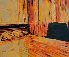 Colin Waeghe, KOMMUNIKATION IN ROT, 2014, 50 x 60 cm, oil on canvas