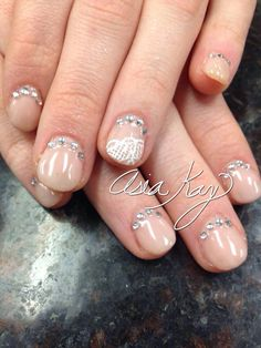 Bridal wedding nails freehand @asiakaybeauty @asianailsandhair