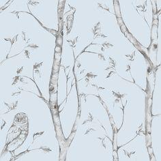 WallPops! Blue Woods Peel And Stick Wallpaper