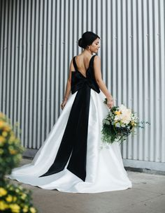 Elegant Sleeveless Black and White Backless Wedding Dresses,Scoop-Neck Big Bow Ball Gowns,Bridal sold by Shop more products from on Storenvy, the home of independent small businesses all over the world. Green Wedding Dresses, Wedding Dress Trends, Black White Wedding Dress, Wedding Dress Bow, Dress Black, White Dress, Wedding Ideas, Bridal Gowns, Wedding Gowns
