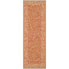 Safavieh Terracotta/ Natural Indoor Outdoor Rug (2'2 x 12') | Overstock.com