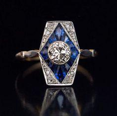 Edwardian Jewelry, Antique Jewelry, Vintage Jewelry, Antique Art, Antique Rings, Vintage Art Deco Rings, Art Deco Wedding Rings, Bijoux Art Deco, Art Deco Jewelry