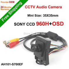 Free Shipping NGtechnic SONY CCD 700TVL Effio 960H OSD Menu CCTV Camera Mini HD Video with Audio pick-up #shoes, #jewelry, #women, #men, #hats