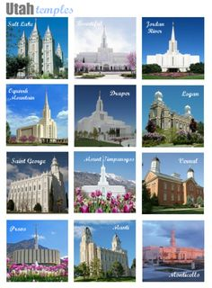 Temple Memory Game-three sets.  Utah temples, readers' request temples, and temples under construction.