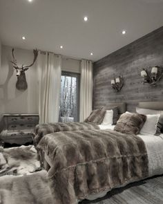 Best Modern Rustic Bedroom For Your Home. We searched the Modern Rustic Bedroom For Your Home color choices for you in the bedroom Farmhouse Master Bedroom, Modern Rustic Bedrooms, Bedroom Makeover, Home Bedroom, Home Decor, Modern Bedroom, Cabin Bedroom, Master Bedrooms Decor, Rustic House